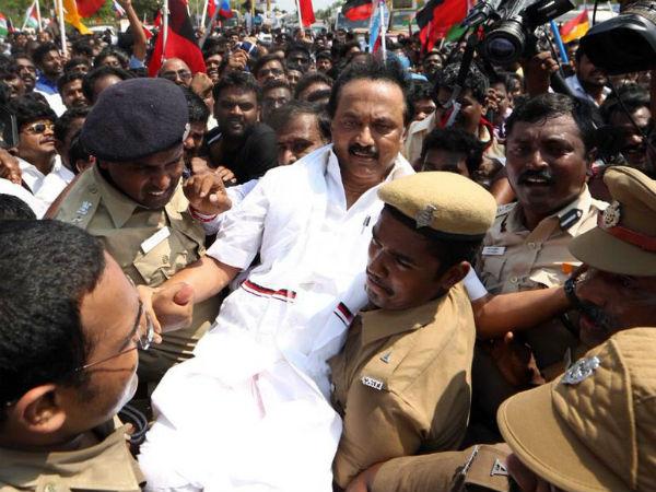 Tamil Nadu Bandh Dmk President Stalin Arrested Chennai