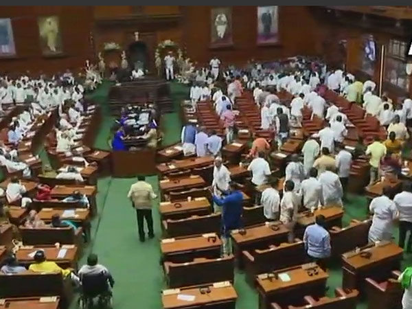 Bjp Stages Walkout From Karnataka Assembly Ahead Floor Test