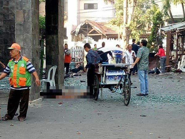 Bomb Blasts At Churches Indonesia Many Injured