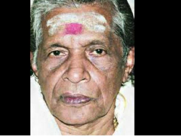 Kandararu Maheshwararu Passes Away