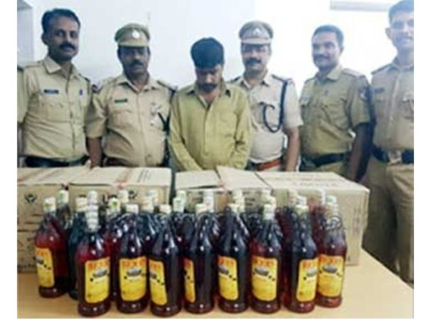 Man Held With Liquor From Kasargod