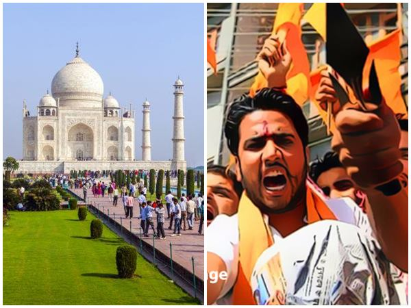 Rss Dharna After Agra Cops Refuse To Allow Shakha Near Taj Mahal
