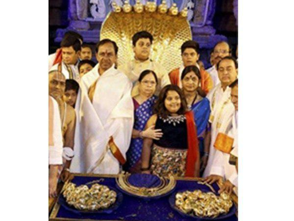Telungana Cm Offers Nose Ring Temple