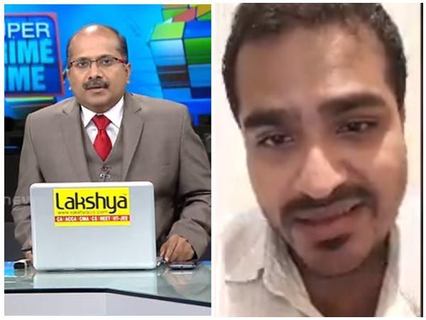Edathala Issue Viral Video News Anchor Venu Balakrishnan