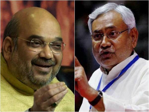 Amith Sha Meet Jdu Leader Nithish Kumar