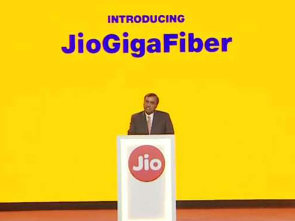 Ril Launches Fibre To The Home Service Jio Gigafiber Jiophone 2