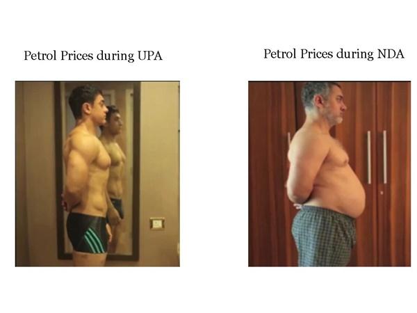 Congress Trolls Fuel Price Hike With Aamir Khan Dangal Character Photo