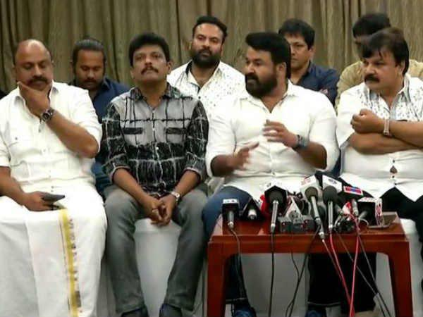 Amma Press Meet Jagadish Siddiq Mohanlal Stands Under Questions No Clear Cut Replies