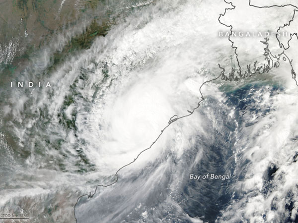 Nasa S Aqua Satellite Captures Images Luban Titli Cyclone