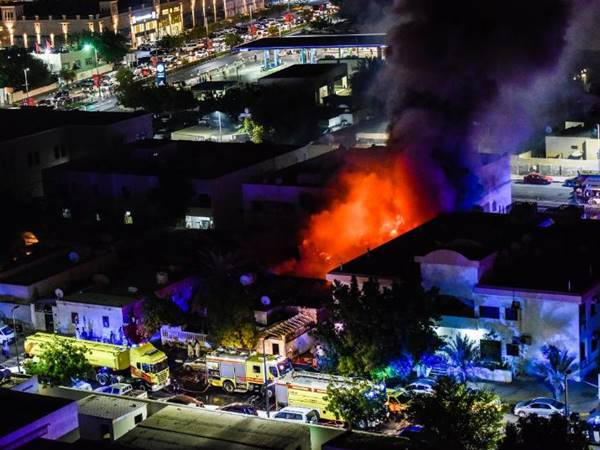 Reports Says Sharja Fire Due To Short Circiut