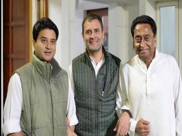 Rahul Gandhi Tweeted Photo With Kamal Nath Jyotiraditya Scindia Hints For Next Cm Of Madhya Pradesh