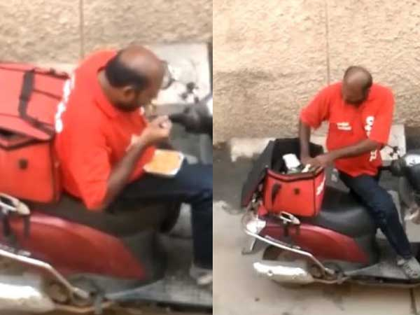 Online Food Ordering Giant Zomatto In Trouble Due To The Video Got Viral In Social Media Platform That Delivery Boy Eating The Food Out For Delivery