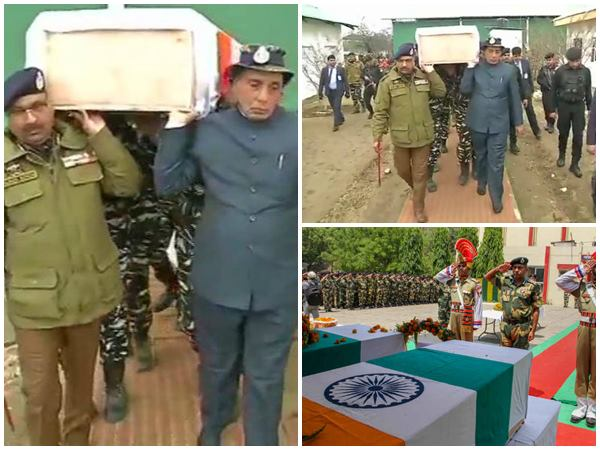 Rajnath Singh Lend A Shoulder To Mortal Remains Of A Crpf Soldier Killed At Pulwama
