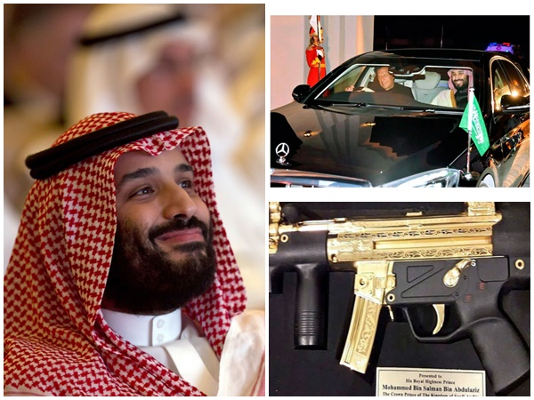 This Is What Pakistan Gifted Saudi Crown Prince Salman Gold Plated Submachine Gun