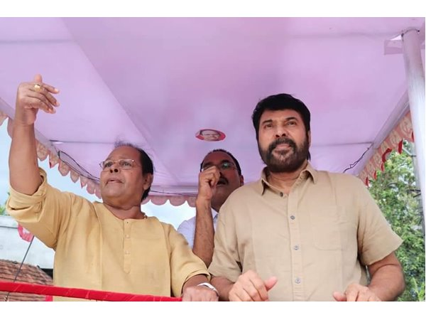 Innocent and Mammootty