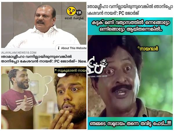 Pc George S Kesavan Nair And Thomaseeha Remarks Social Media Mock With Trolls