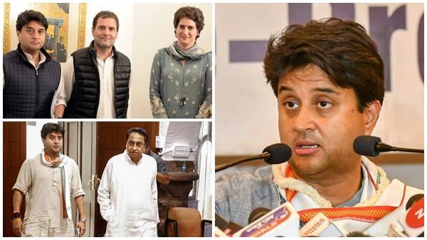 Madhya Pradesh How Rahul Gandhi Gets A Major Set Back From His Close Aid Jyotiraditya Scindia