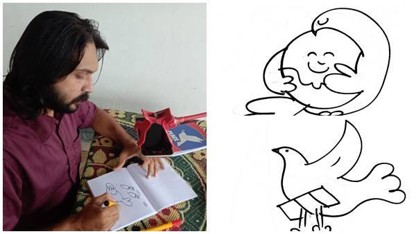 ലോക സമാധാന ദിനം: 42 മിനിട്ടില് 100 കാര്ട്ടൂണുകളുമായി കാര്ട്ടൂണിസ്റ്റ് ഇബ്രാഹിം ബാദുഷ