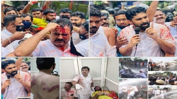 Images Of Vt Balram And Congress Workers Are Spreading As Farmers Protest