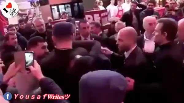 The Video Regarding Emmanuel Macron Egged Is False