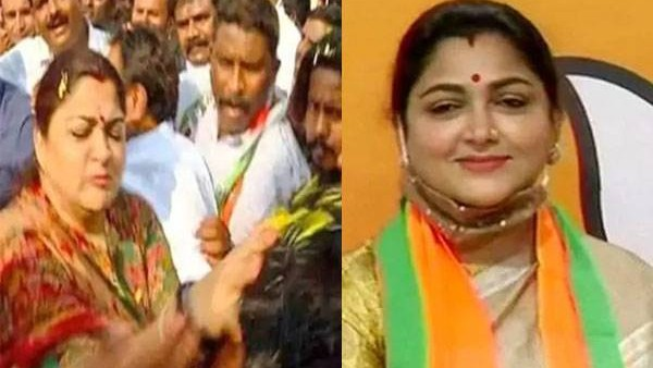 Actress Khushbu Sundar Did Not Slap A Bjp Worker During A Recent Rally