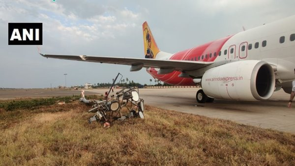 Air India plane crashes at Vijayawada airport