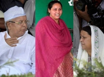 Lalu Flexes Muscle With Daughter Misa Wife Rabri