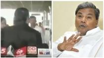 Sidharamaiah Slaps Party Member At Mysore Airport Video Goes Viral