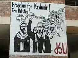 Azadi Kashmir Poster Surfaces Jnu Removed