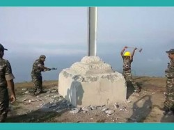 Pappathichola Illegally Constructed Cross Destruction