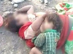 Heartrending In Mp Baby Tries To Breastfeed As Mother Lies Dead