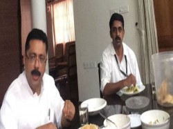 Minister Kt Jaleel Lunch With His Driver Journalist Facebook Post