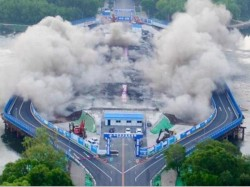 This Bridge China Was Demolished Just 3 5 Seconds Video