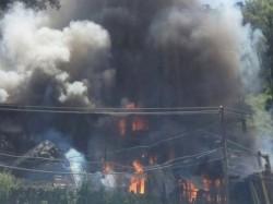 Emergency Light Blasts Fire Broke In Home