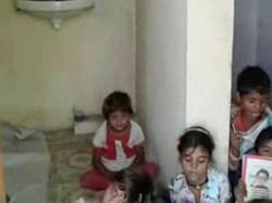 Toilet Ek School Katha In This Village In Madhya Pradesh School Kids Forced To Study In Toilet