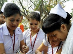 Nursing Student Protest Against Collector