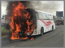Karnatala Rtc Bus Catches Fire Chennai