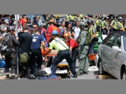 Car Strikes Crowds Along Route Of White Nationalist Rally In Us