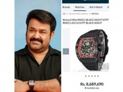 Social Media Discussion Over Actor Mohanlal And A Watch