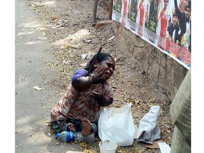 ഭിക്ഷക്കാരിയായ ഭിന്നശേഷിക്കാരിക്ക്  തിരൂരില് ക്രൂരമായി മര്ദ്ദനം